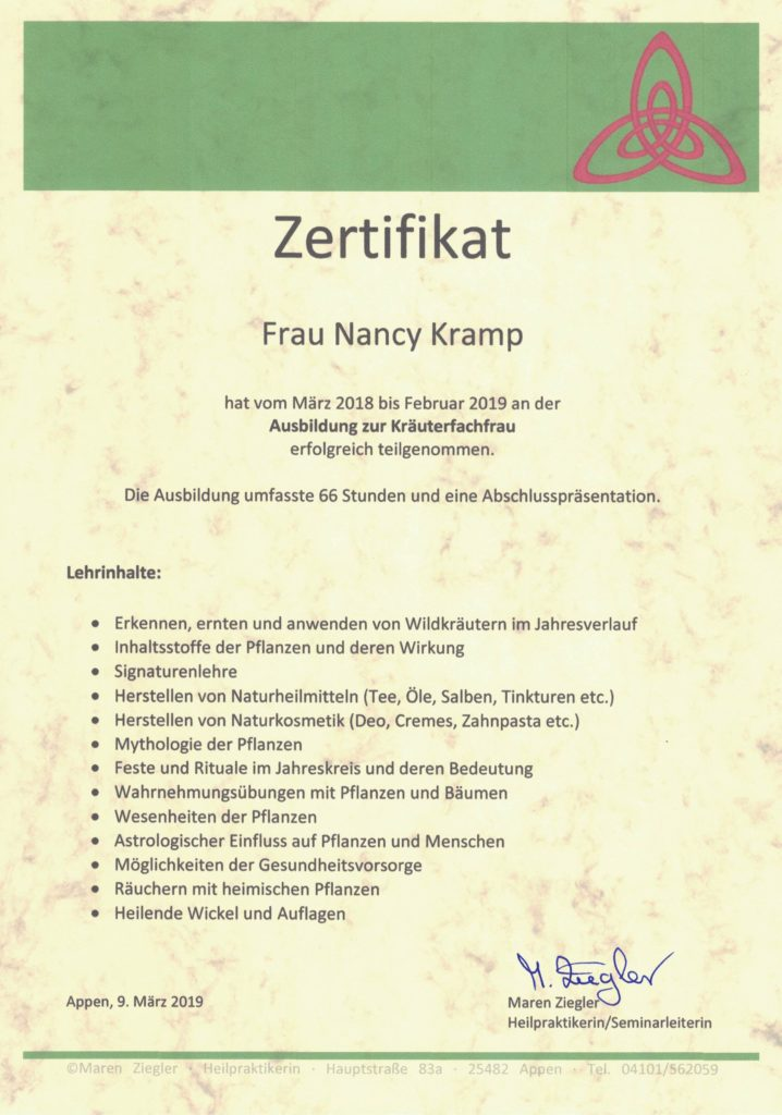 Nancy Kramp Kräuterfrau